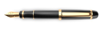 fountain pen writing: A luxury fountain pen on a white background used as a paragraph divider.