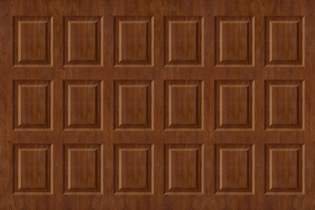 Raised walnut wall paneling texture