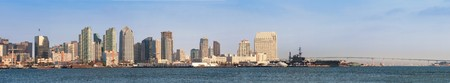 Downtown San Diego looking across the bay during daytime from Harbor Island photo