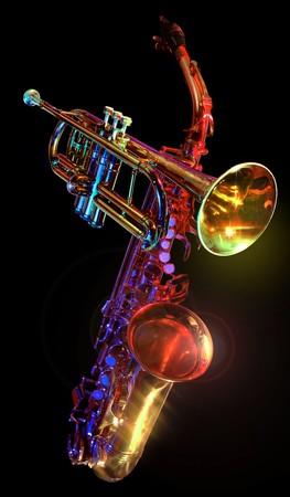 gelled trumpet & saxaphone