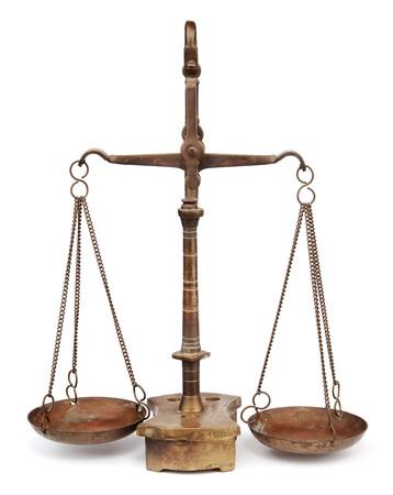 antique scales on white background 版權商用圖片