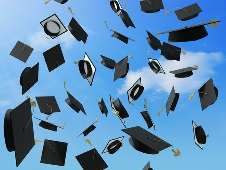 A skyfull of mortar boards. Stock Photo - 7057367