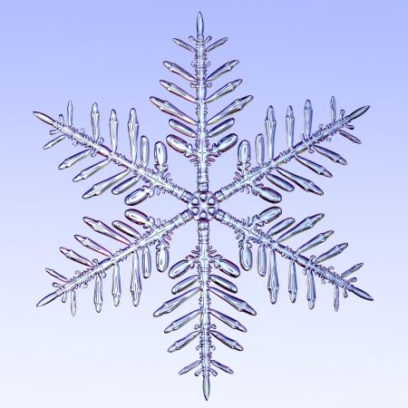 A microscopic zoom of a snowflake.