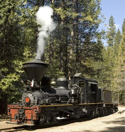 Vintage steam locomotive photo