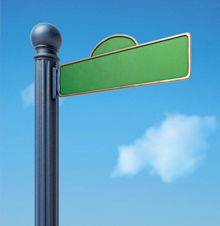 A Blank Old-Fashoned Urban Street Sign. Stock Photo - 7058032