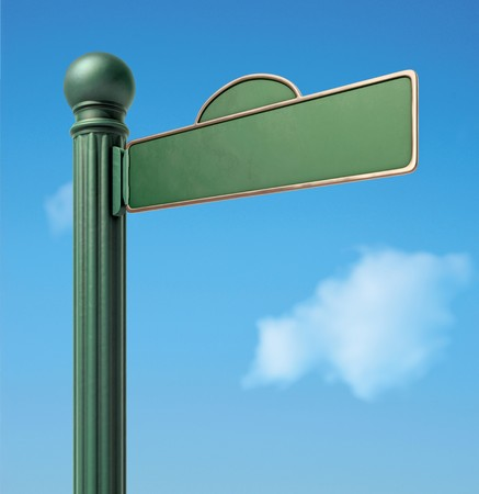 A Blank Old-Fashoned Urban Street Sign. Stock Photo - 7058070