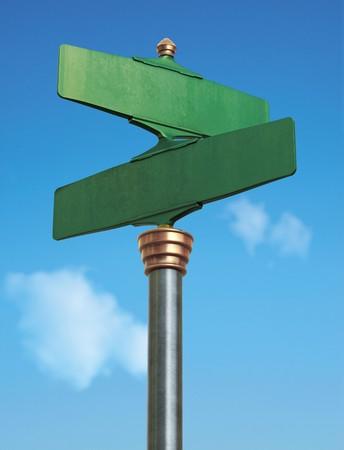 cruce de caminos: Un signo de calle vieja-Fashoned para una intersecci�n  Foto de archivo