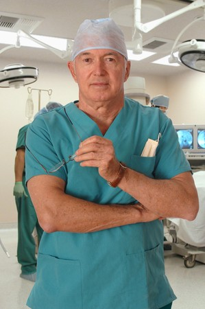 Surgeon in the Operating Room facing the camera Stock Photo - 9519863