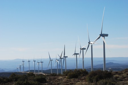environmental conservation: Tecate Divide Windmills in california