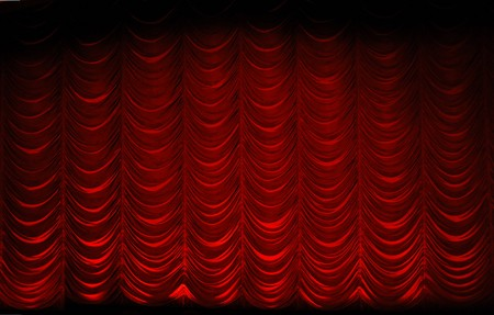 red swag theatrre curtain Imagens - 7050763