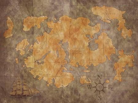 treasure map background Imagens