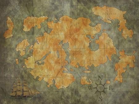 schat kaart achtergrond