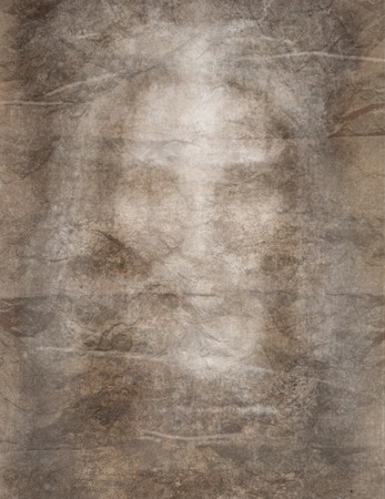 Burial shroud modeled after the shroud of Turin photo