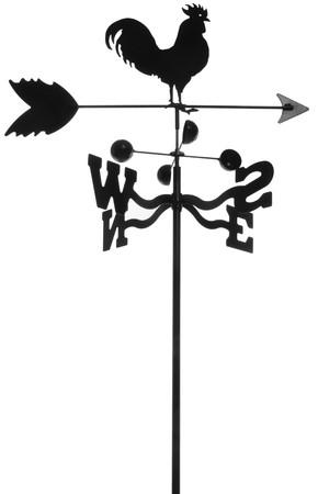 iron weathervane isolated on white Stok Fotoğraf
