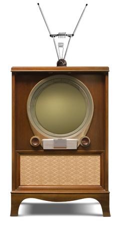 1952 console television set Banque d'images