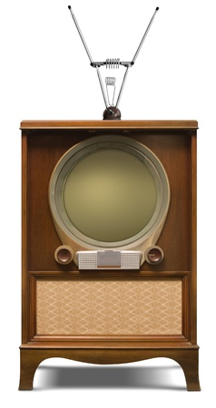 retro tv: 1952 console television set Stock Photo