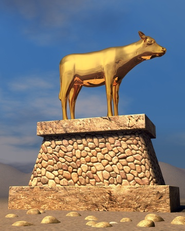The golden calf as described in the book of Exodus