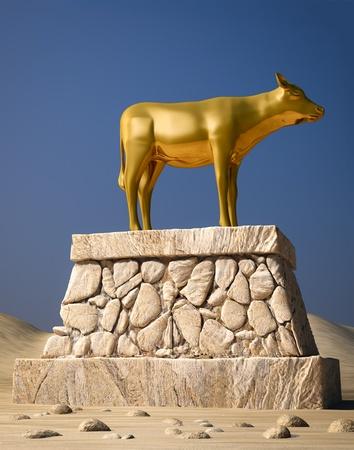 El becerro de oro, como se describe en el libro del �xodo Foto de archivo - 9524438
