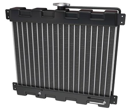 radiador: Radiador de coche en un fondo blanco  Foto de archivo