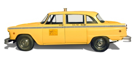 taxicab: Classic, retro yellow taxicab from New York City