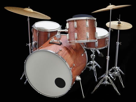 A Jazz drumkit on a white background Stock Photo