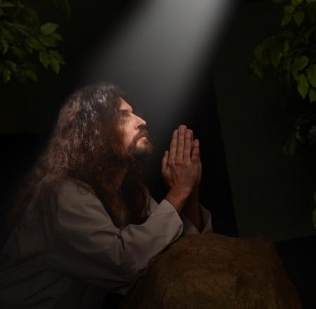 Jezus bidt in de Hof van Gesthemene Stockfoto