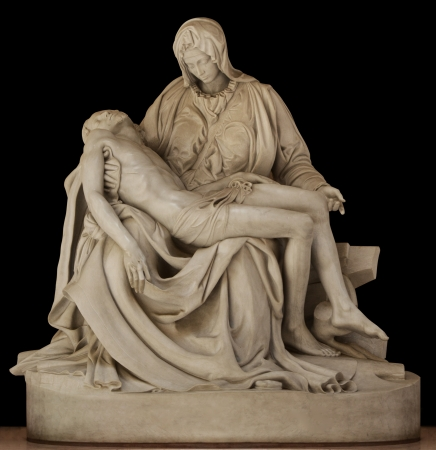 Statue of Mary holding the body of Jesus by Michael Angelo 스톡 콘텐츠