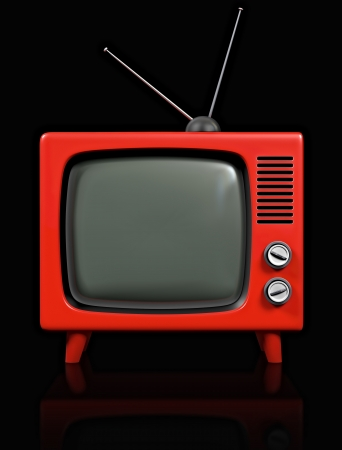 retro tv:  on a blackbackground