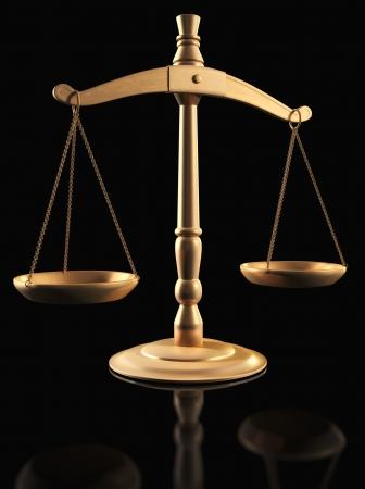 真鍮の黒の上正義のスケール
