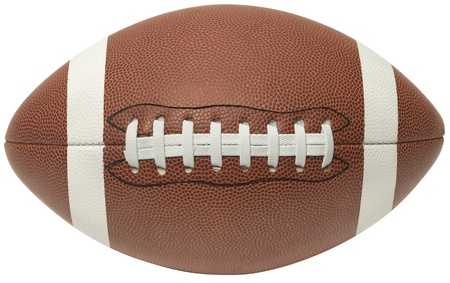 symetry: Close up of a football on a white background.