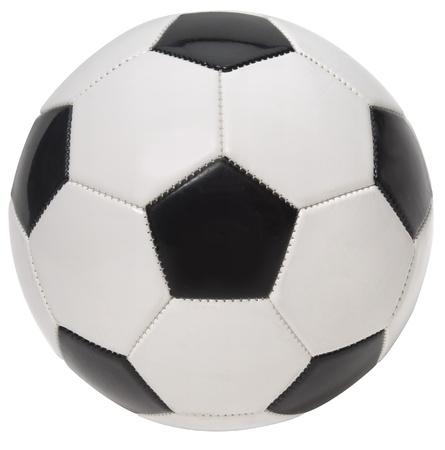 Primo piano di un pallone da calcio su uno sfondo bianco. Archivio Fotografico - 15442184