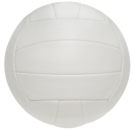 symetry: Close up of a volleyball on a white background.