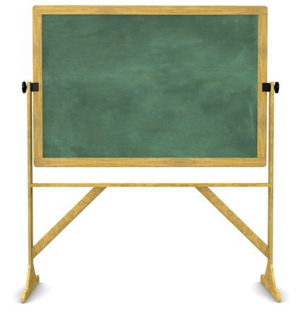 Retro, free-stanind, swiveling chalkboard isolated on white with a clipping path