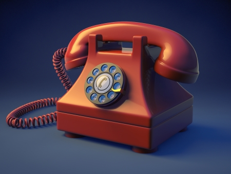 Retro rotary phone Stock Photo