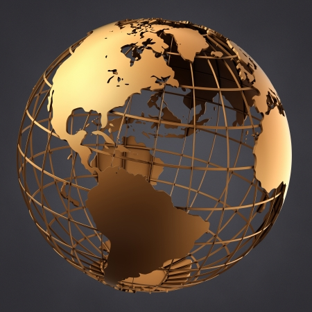 A photo of a globe on a dark grey background Stock Photo - 17509747