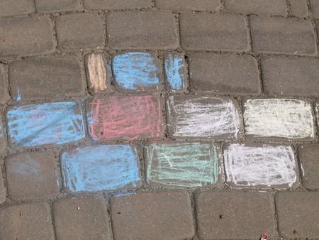 Color chalk art