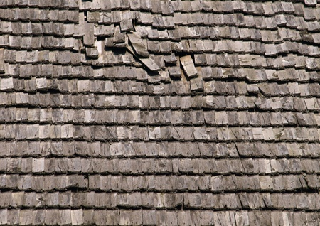 Old wooden roof details photo