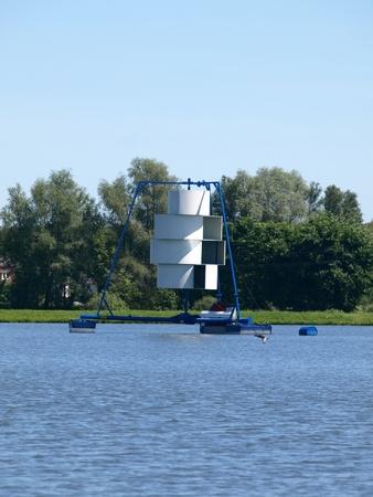 aerator: Aerator in lake