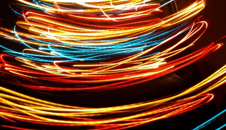 Multicolored abstract lights - long exposure Stock Photo