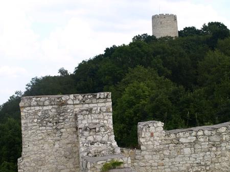 kazimierz dolny: Old round tower in Kazimierz Dolny, Poland Stock Photo