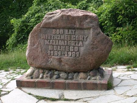 kazmierz dolny: Old stoned monument near castle ruins in Kazmierz Dolny, Poland