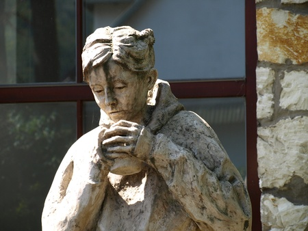 kazmierz dolny: Sculptures near artistic school in Kazmierz Dolny, Poland Editorial