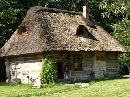 The oldest wooden house built in XVIIXVIII century in Kazimierz Dolny, Poland