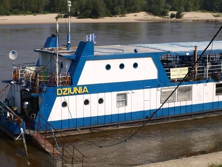 kazimierz dolny: Touristic ship in Vistula River in Kazimierz Dolny, Poland