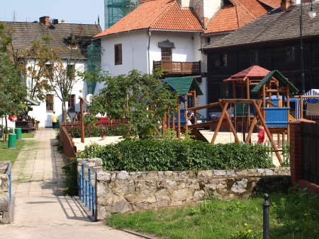 kazimierz dolny: Architecture in Kazimierz Dolny, Poland