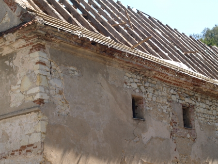 Ruins of old stoned granary in Kazimierz Dolny, Poland