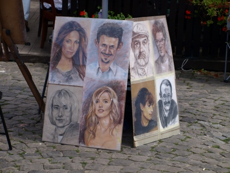 Portraits on street in Kazimierz Dolny, Poland