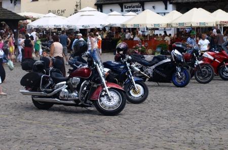 kazimierz dolny: Motorcycles in Kazimierz Dolny, Poland