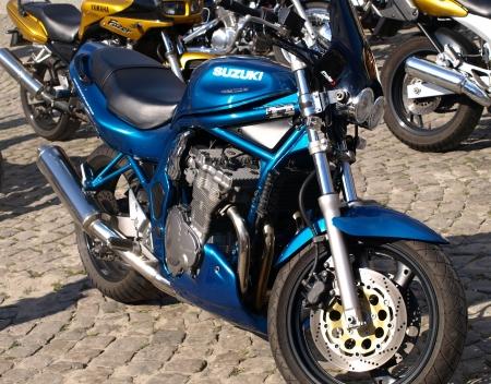 kazimierz dolny: Motorcycle in Kazimierz Dolny, Poland Editorial