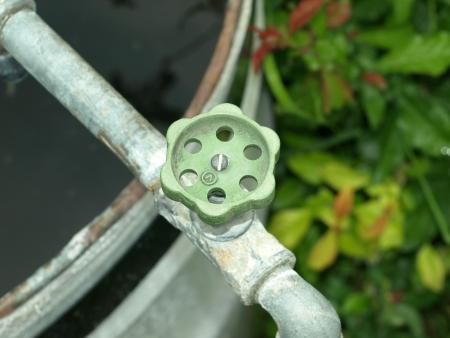 Garden tap Stock Photo
